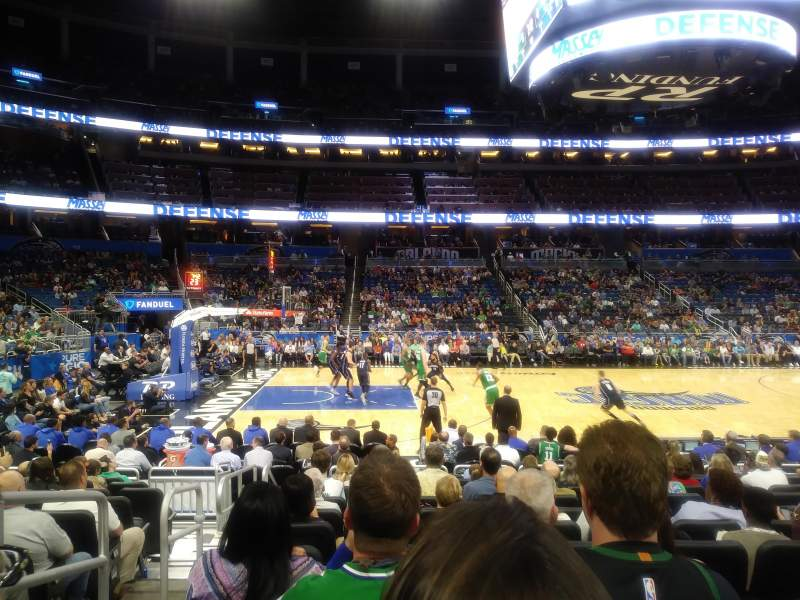 Seating view for Amway Center Section 106 Row 11 Seat 19-20
