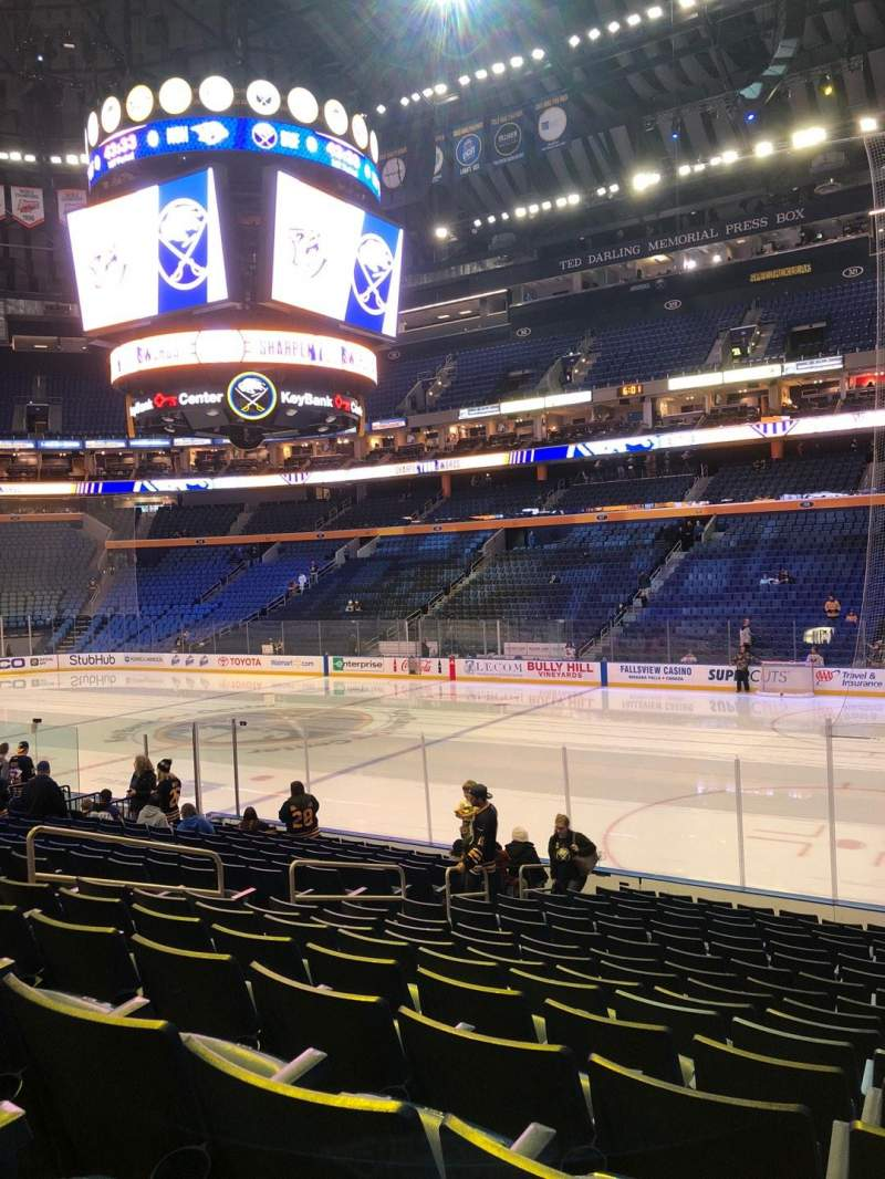 Seating view for KeyBank Center Section 103 Row 16 Seat 22