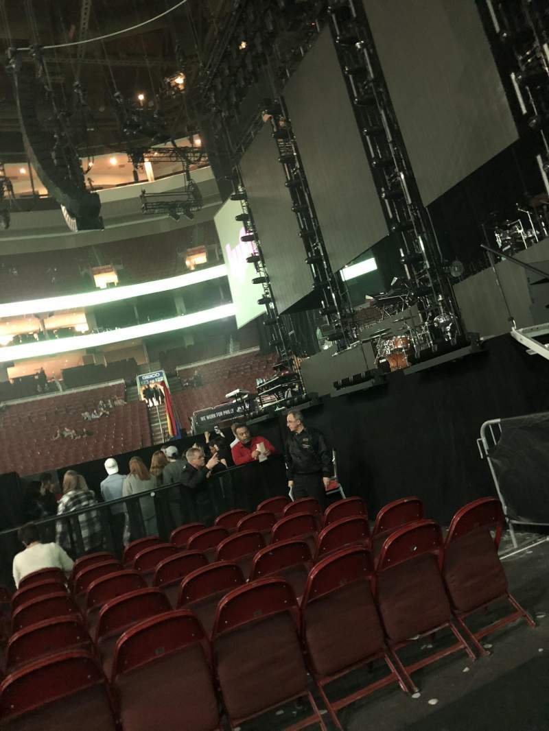 Seating view for Wells Fargo Center Section 115 Row 1 Seat 4