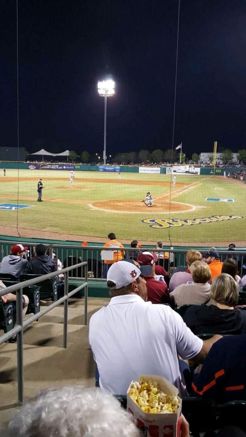 Seating view for Montgomery Riverwalk Stadium Section 110 Row 11 Seat 16
