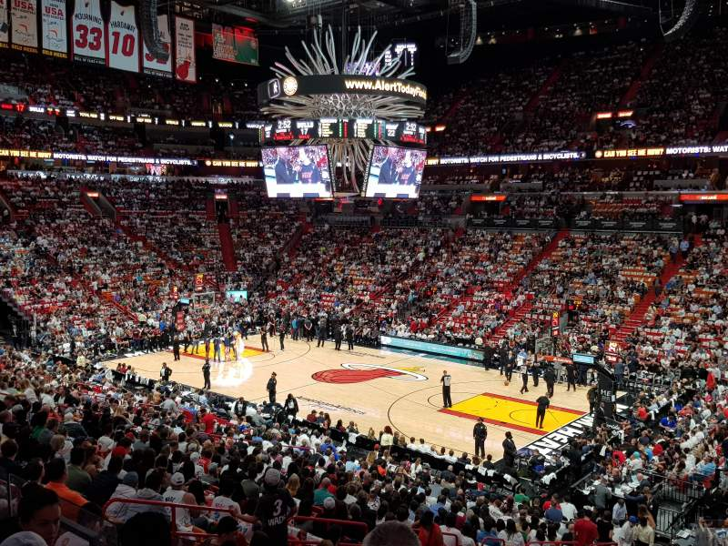 American Airlines Arena, section: 116, row: 27, seat: 1