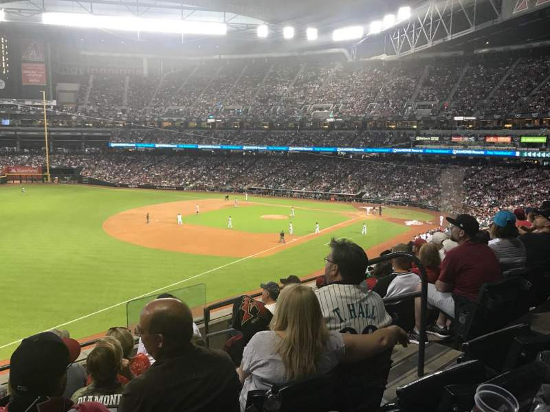 Seating view for Chase Field Section 218 Row 6 Seat 5