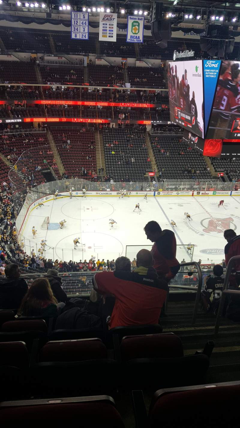Seating view for Prudential Center Section 109 Row 6 Seat 2