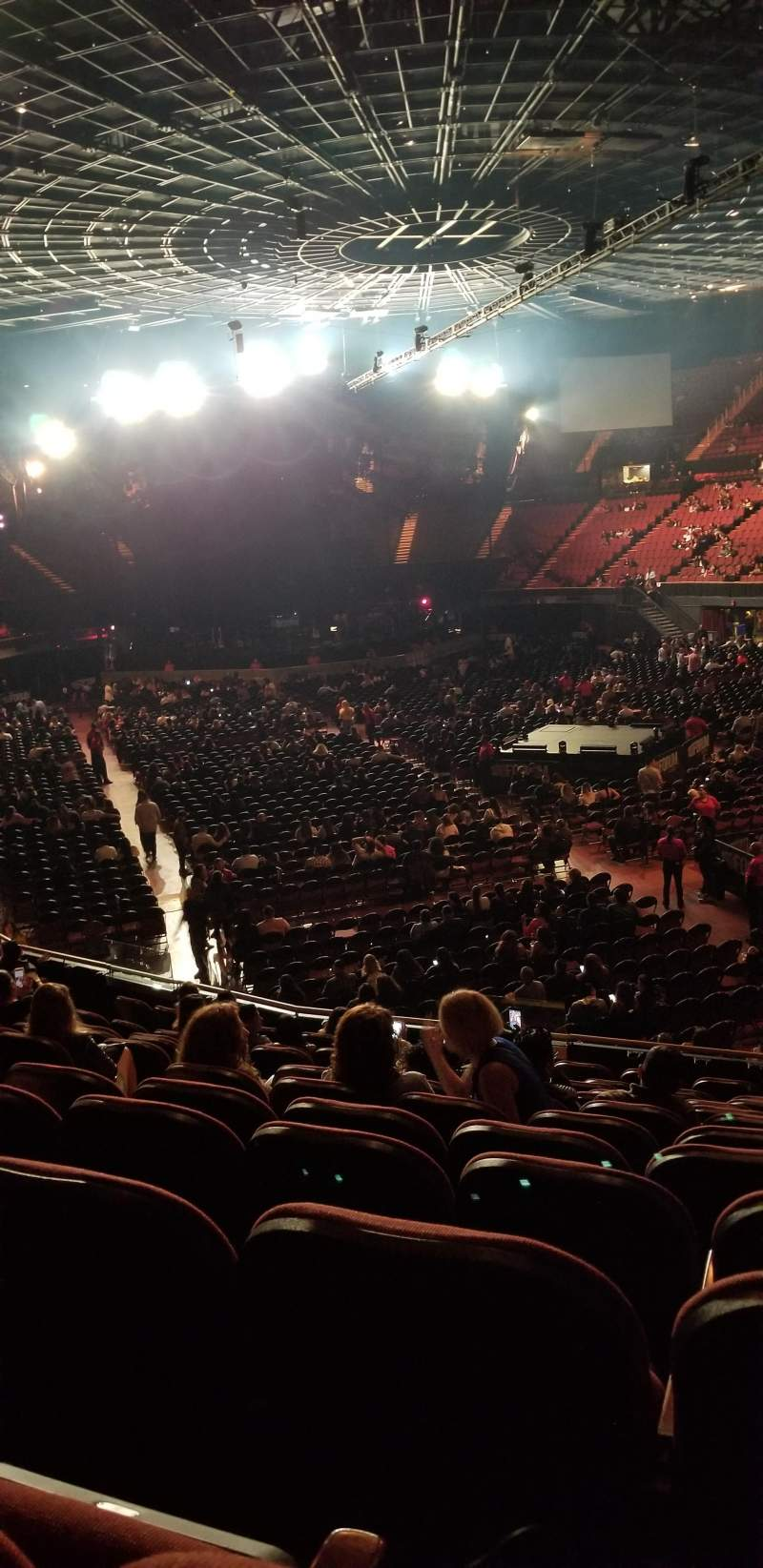 The forum, section: 134, row: 12, seat: 6
