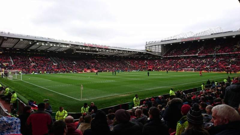 Seating view for Old Trafford Section N1401 Row QQ Seat 286
