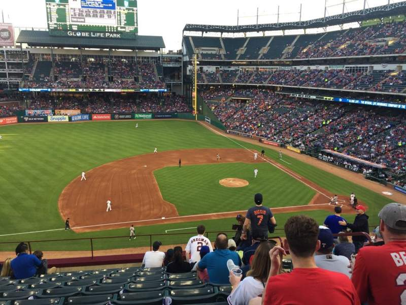 Seating view for Globe Life Park in Arlington Section 218 Row 10 Seat 10