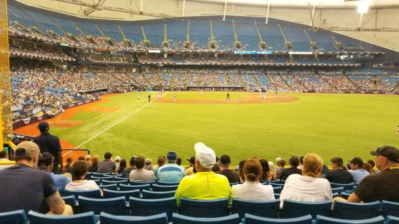 Seating view for Tropicana Field Section 142 Row FF Seat 8