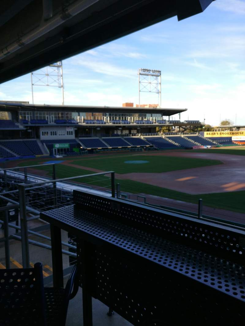 Seating view for Dunkin' donuts park Section 103 Row High Top Swivel Chair Seat S12