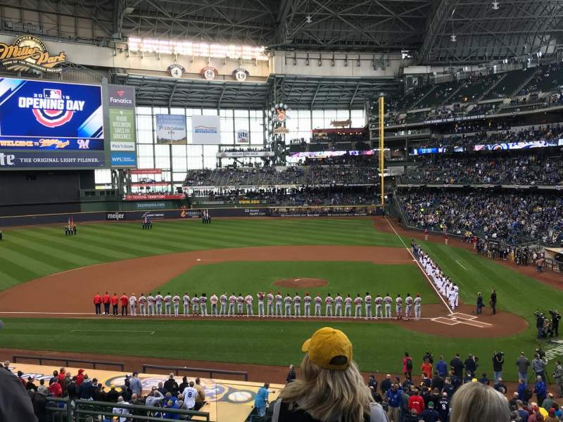 Miller Park, section: 222, row: 7, seat: 16
