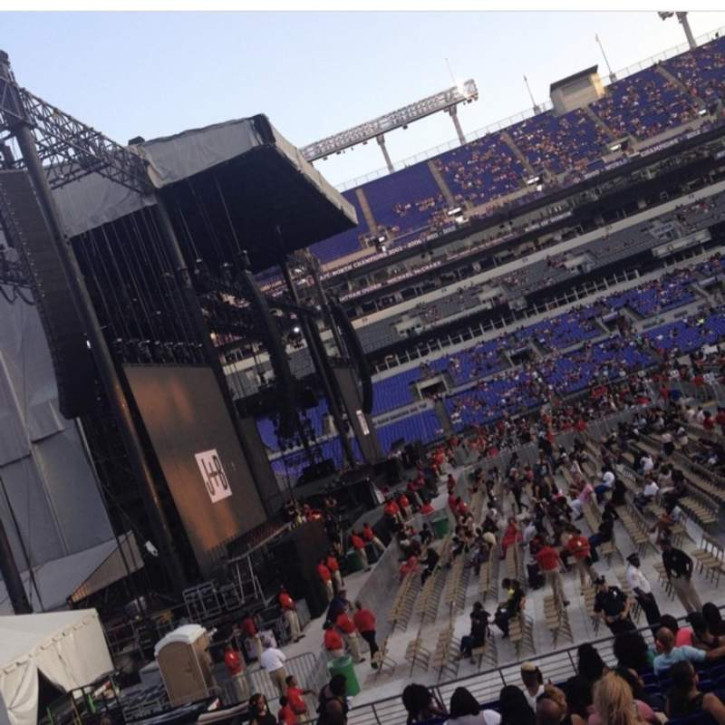 Seating view for M&T Bank Stadium Section 102 Row 16W Seat 2