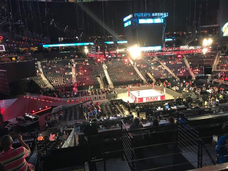 Philips Arena, section: 213, row: F, seat: 3