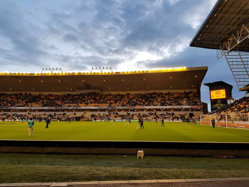 Seating view for Molineux Stadium Section jl3 Row b Seat 70