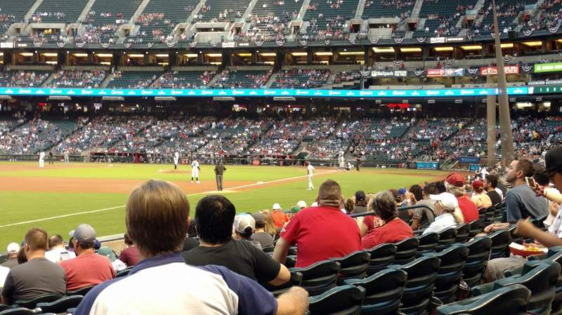 Chase Field, section: 133, row: 14, seat: 18