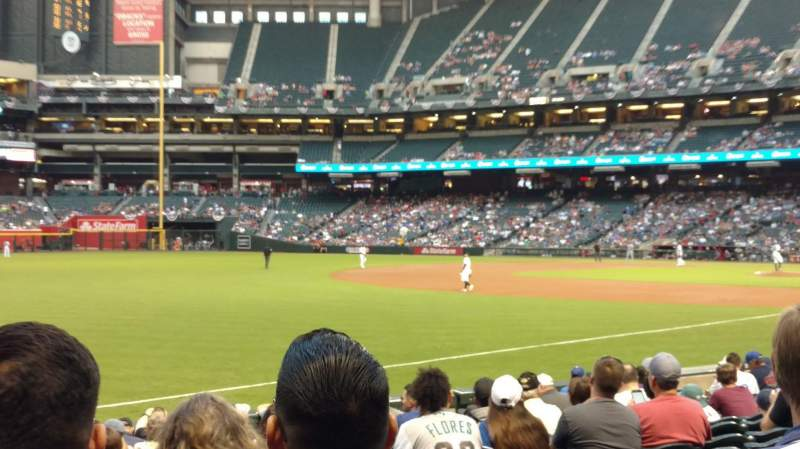 Chase Field, section: 133, row: 14, seat: 17