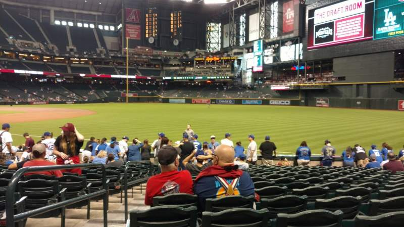 Chase Field, section: 111, row: 16, seat: 20