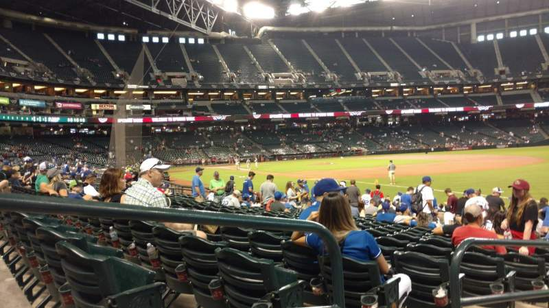 Seating view for Chase Field Section 111 Row 16 Seat 20