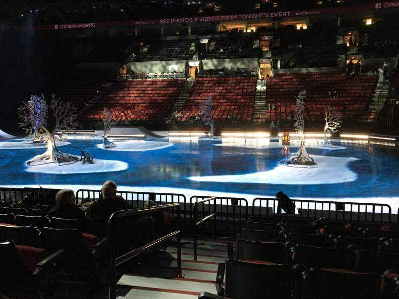 Seating view for Moda Center Section 121 Row H Seat 20