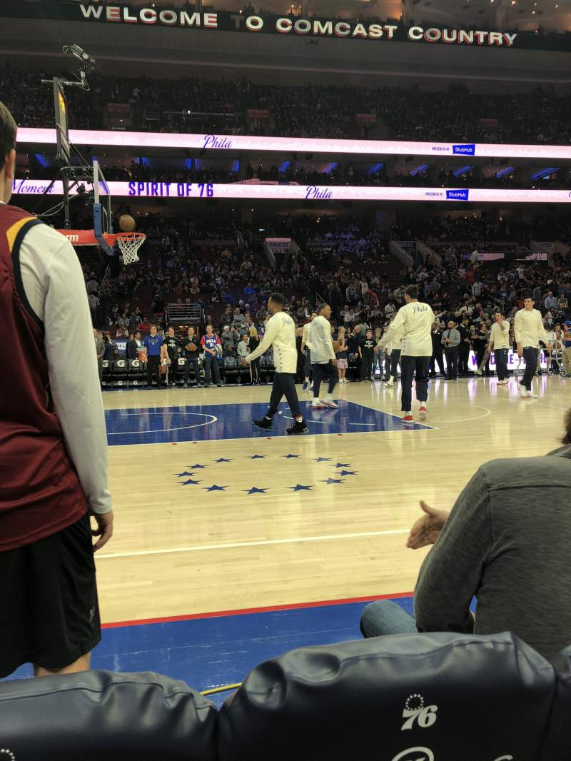 Seating view for Wells Fargo Center Section 112 Row AA Seat 6