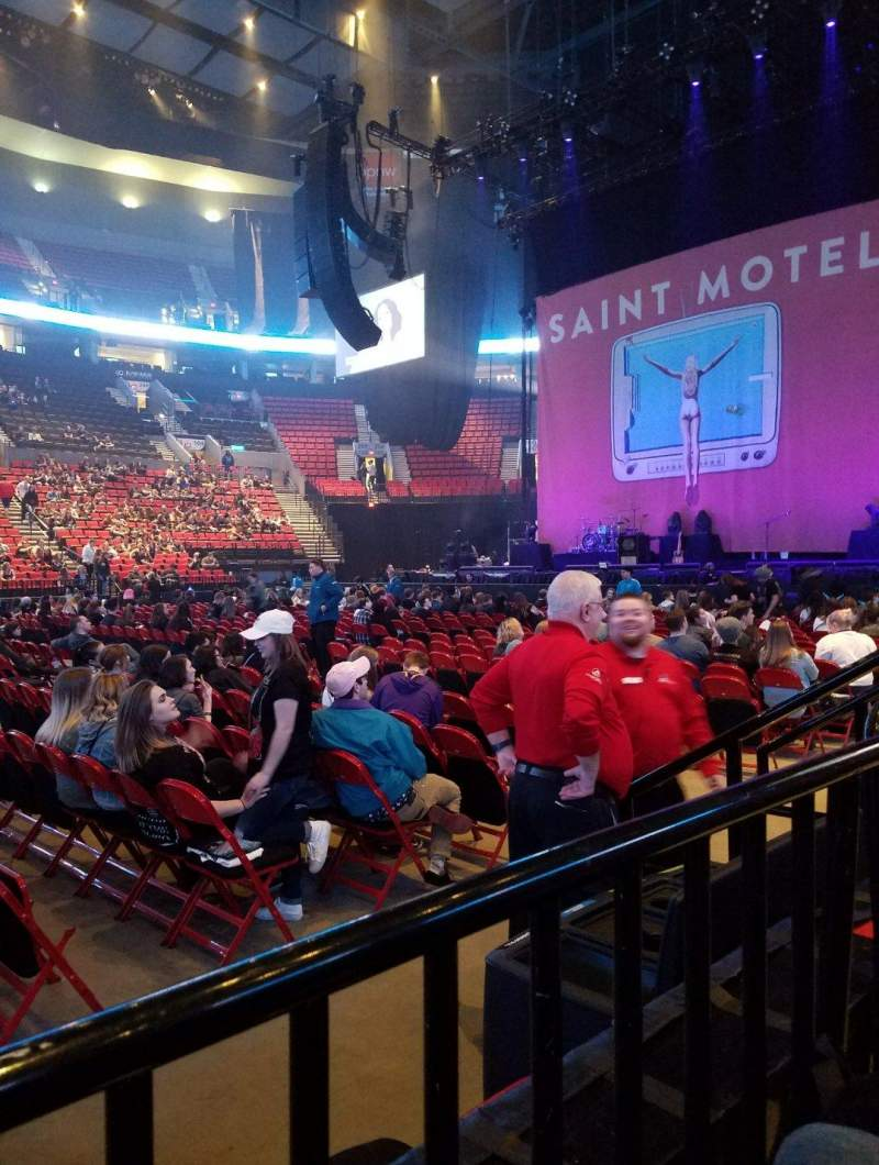 Seating view for Moda Center Section 112 Row A Seat 5