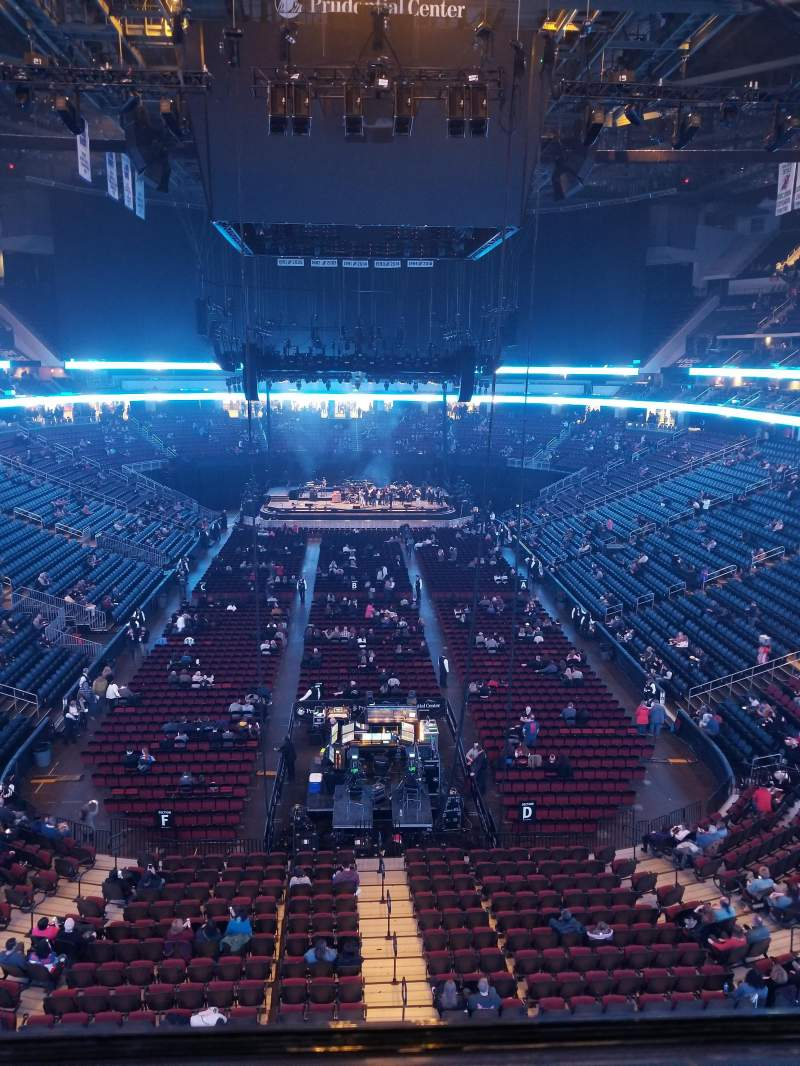 Seating view for Prudential Center Section 103 Row 1 Seat 11
