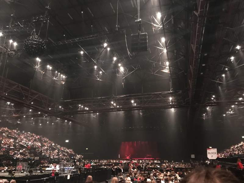 Seating view for Resorts World Arena Section 8 Row H Seat 242