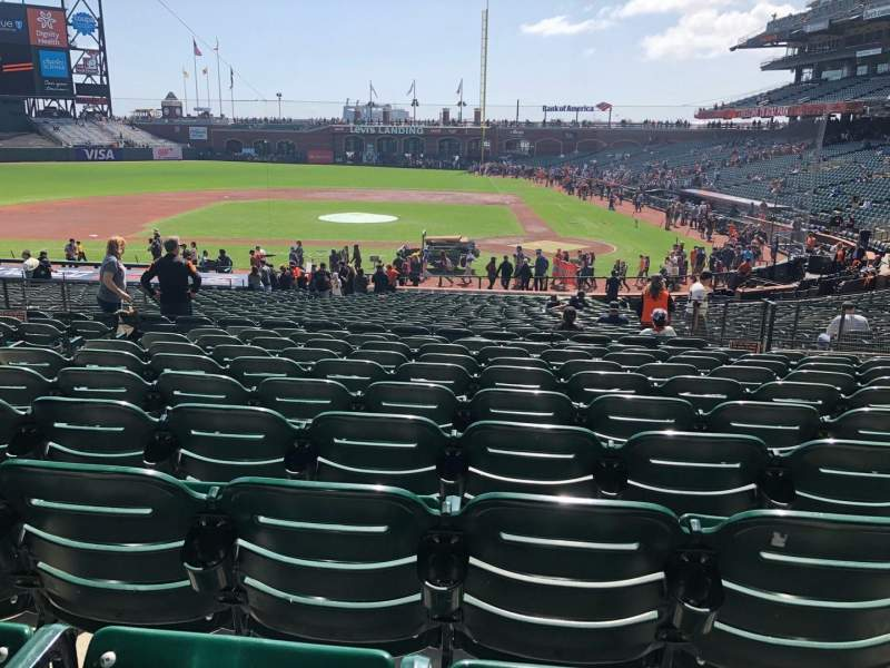 Seating view for Oracle Park Section 121 Row 32 Seat 11