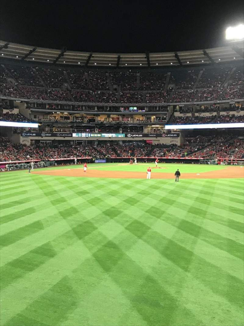 Seating view for Angel Stadium Section P239 Row 1 Seat 1