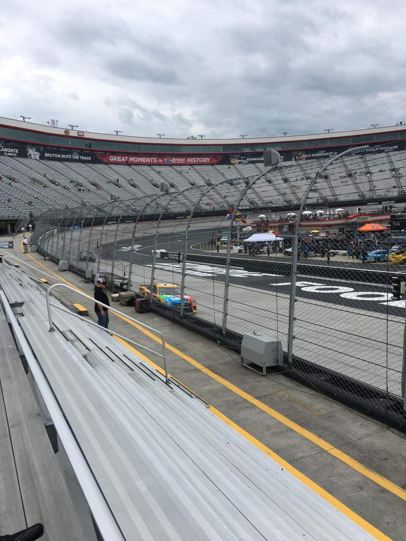 Bristol Motor Speedway, section Allison F, row 1, seat 1 - Food City 509, Shared Anonymously