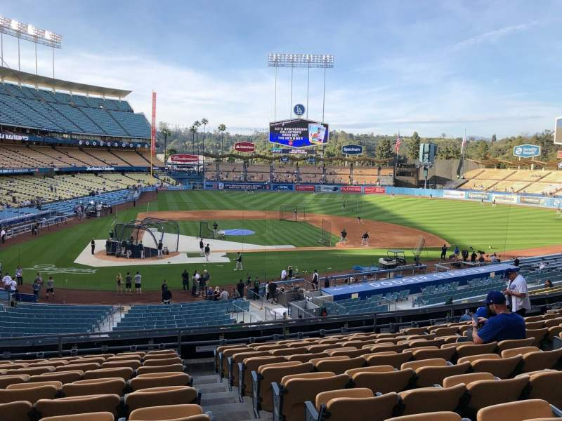 Seating view for Dodger Stadium Section 120LG Row K Seat 4-7