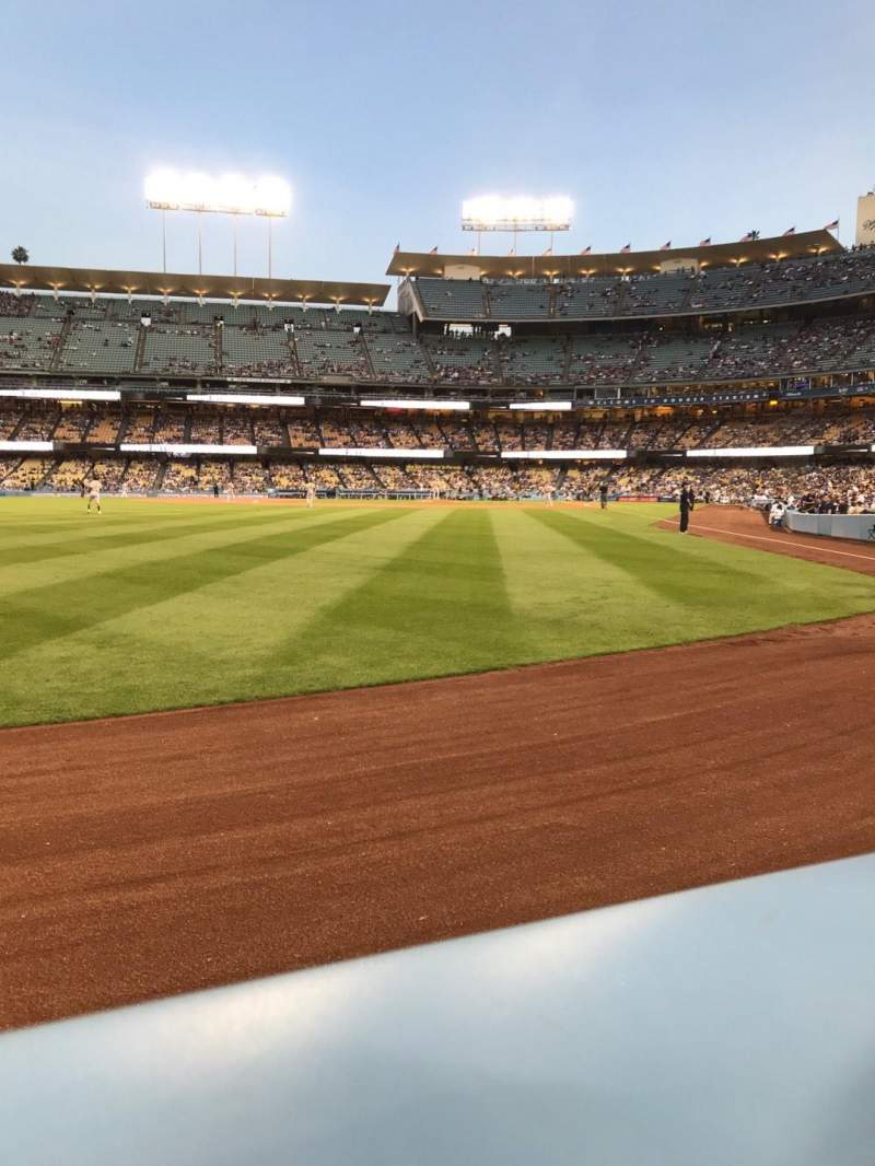 Seating view for Dodger Stadium Section 53FD Row AA Seat 1