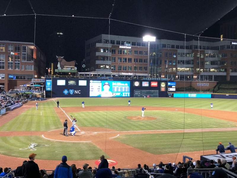 Seating view for Durham Bulls Athletic Park Section 204 Row S Seat 10