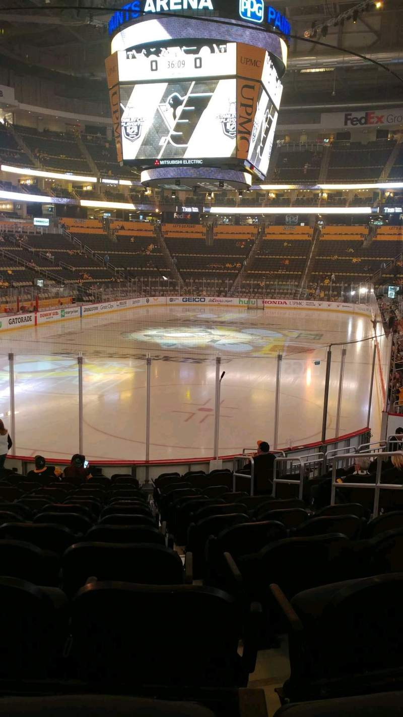 Seating view for PPG Paints Arena Section 117 Row P Seat 5