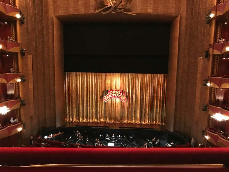 Seating view for Metropolitan Opera House - Lincoln Center Section Dress circle Row A Seat 106
