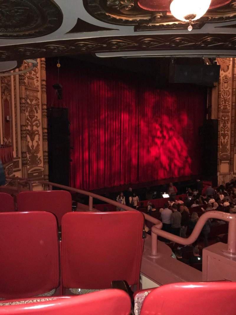 Seating view for Cadillac Palace Theater Section Dress Circle FL Row FF Seat 9