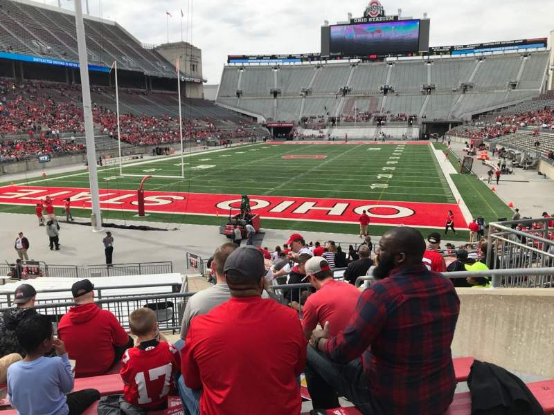 Seating view for Ohio Stadium Section 5a Row 7 Seat 8