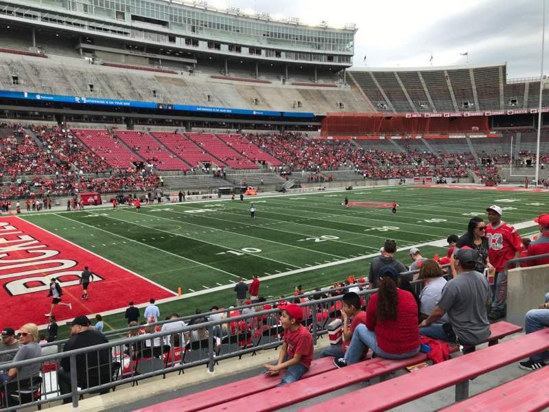 Ohio Stadium Section 28A Home Of State Buckeyes