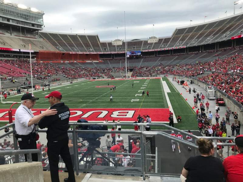 Ohio Stadium, section: 36a, row: 6, seat: 19