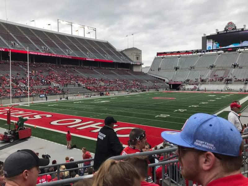 Ohio Stadium, section: 9a, row: 3, seat: 8