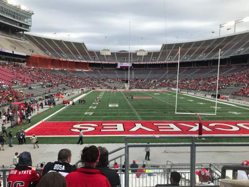 Ohio Stadium, section: 37a, row: 6, seat: 1