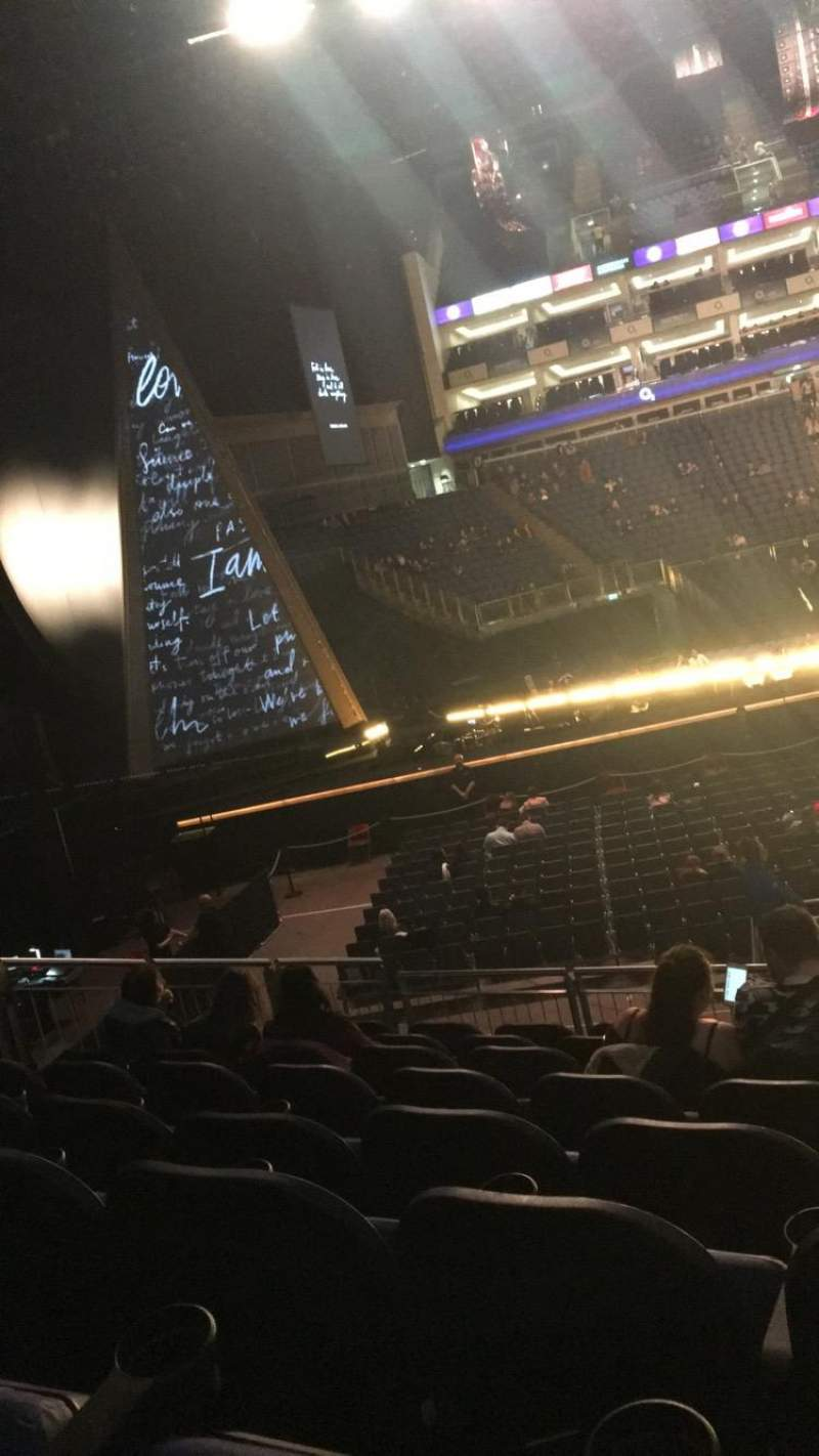 Seating view for The O2 Arena Section 101 Row Q Seat 21