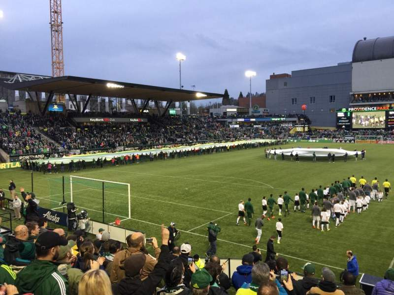 Seating view for Providence Park Section 109 Row I Seat 16