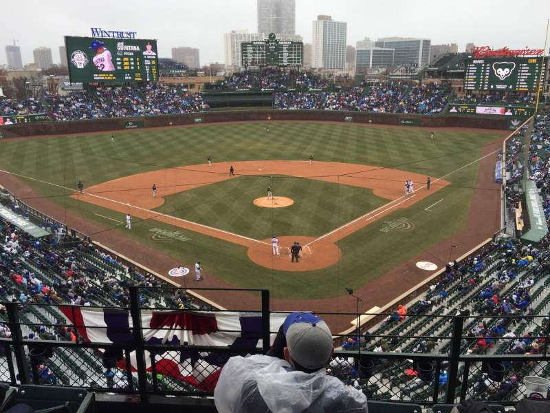 Seating view for Wrigley Field Section 316L Row 4 Seat 1