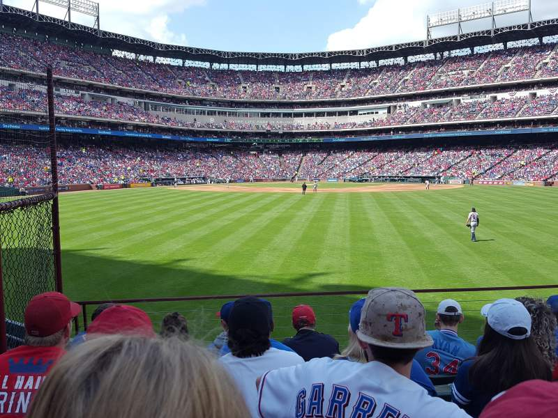 Seating view for Globe Life Park in Arlington Section 50 Row 6 Seat 3