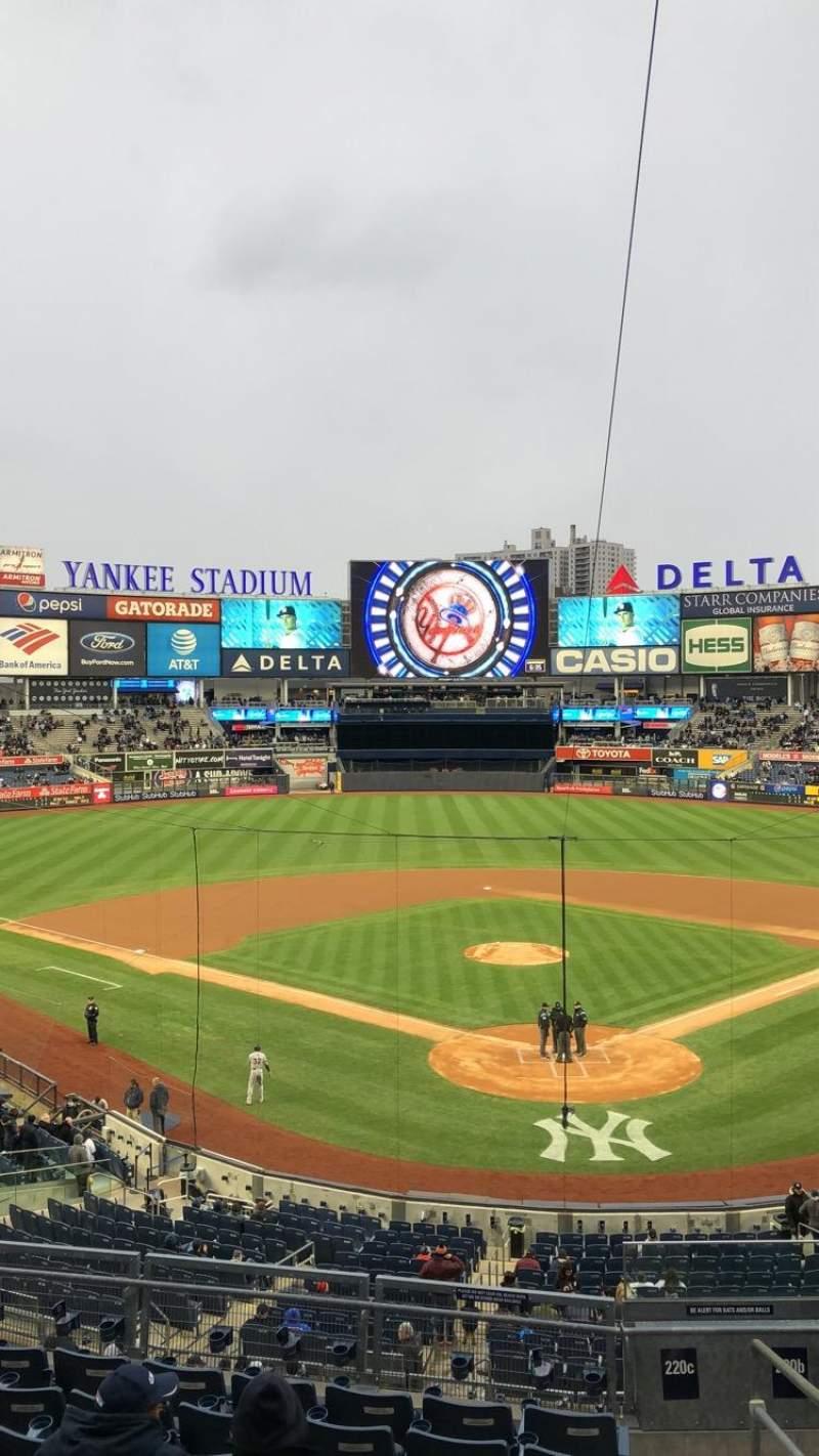 Yankee Stadium, section: 220c, row: 8, seat: 10