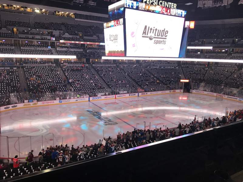 Seating view for Pepsi Center Section 206 Row 2 Seat 6