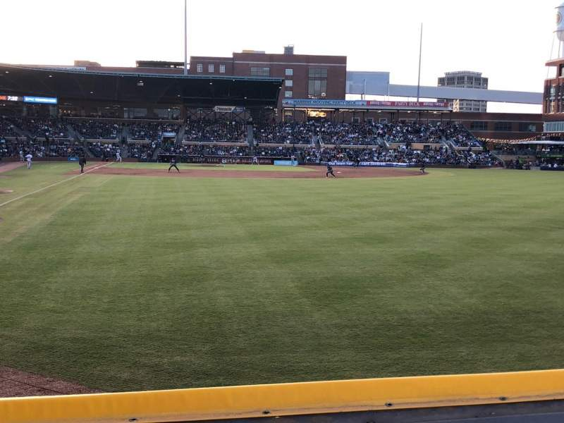 Seating view for Durham Bulls Athletic Park Section 124 Row A Seat 3