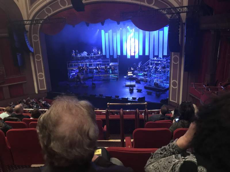 Seating view for Broadway Theatre - 53rd Street Section Right Mezzanine Row F Seat 3