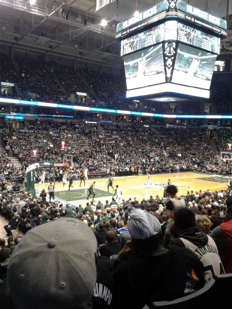 Seating view for BMO Harris Bradley Center Section 203 Row R