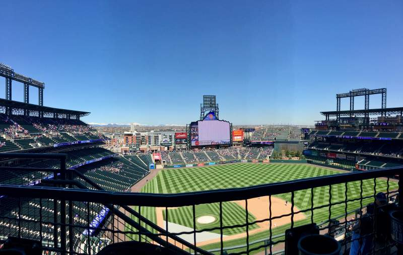 Seating view for Coors Field Section U326 Row 10 Seat 18