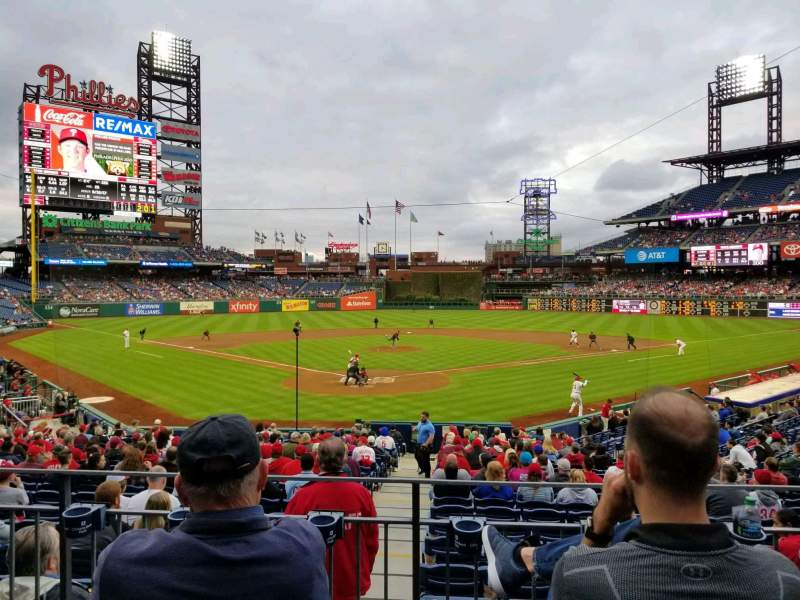 Seating view for Citizens Bank Park Section 123 Row 23 Seat 6